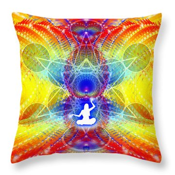 Throw Pillow featuring the digital art Cosmic Spiral Ascension 56 by Derek Gedney