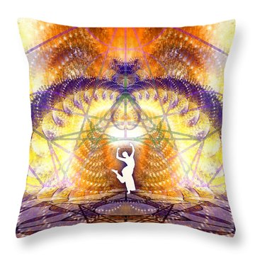 Throw Pillow featuring the digital art Cosmic Spiral Ascension 58 by Derek Gedney