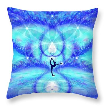 Throw Pillow featuring the digital art Cosmic Spiral Ascension 65 by Derek Gedney