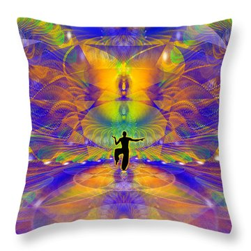 Throw Pillow featuring the digital art Cosmic Spiral Ascension 73 by Derek Gedney
