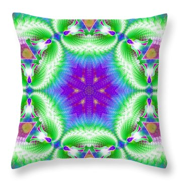 Cosmic Spiral Kaleidoscope 10 Throw Pillow by Derek Gedney