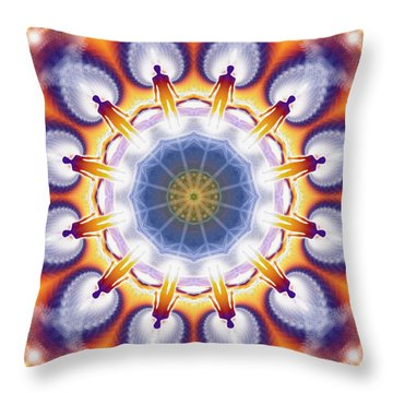 Cosmic Spiral Kaleidoscope 34 Throw Pillow by Derek Gedney