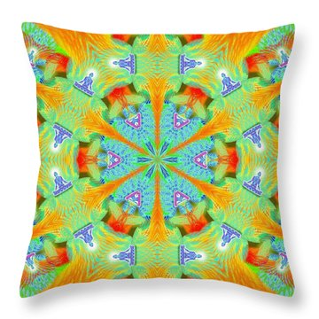 Cosmic Spiral Kaleidoscope 41 Throw Pillow by Derek Gedney