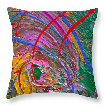 Cosmic Thoughts Throw Pillow by Donna Blackhall