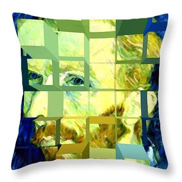 Cosmic Van Gogh Portrait Throw Pillow by Jerome Stumphauzer