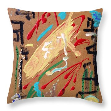 Throw Pillow featuring the painting Cosmopolitan by Mary Carol Williams