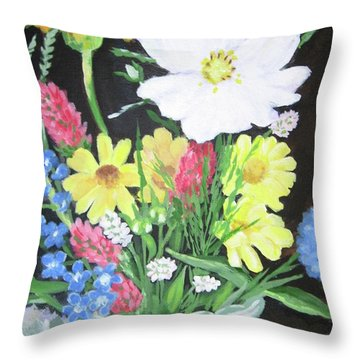 Cosmos And Her Wild Friends Throw Pillow