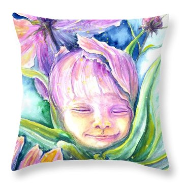 Cosmos Bud Throw Pillow