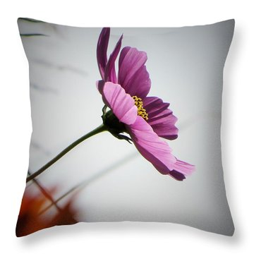 Cosmos In The Wind Throw Pillow