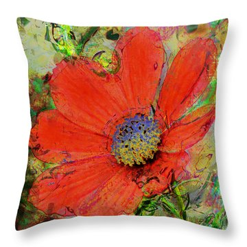 Cosmos Flower No. 1 Throw Pillow
