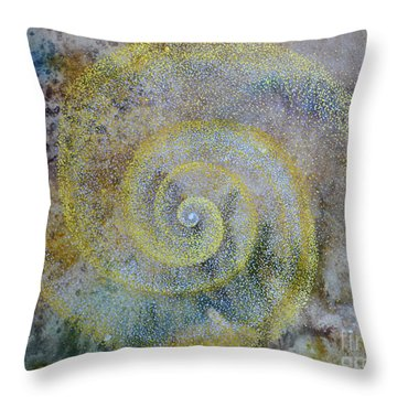 Throw Pillow featuring the painting Cosmos by Suzette Kallen