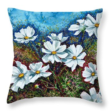 Cosmos  Throw Pillow by Zaira Dzhaubaeva
