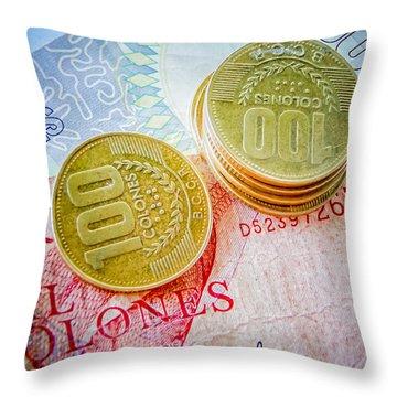 Costa Rica Colones Throw Pillow