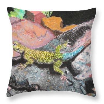 Costa Rican Lizard Throw Pillow