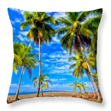 Costa Rican Paradise Throw Pillow by Michael Pickett