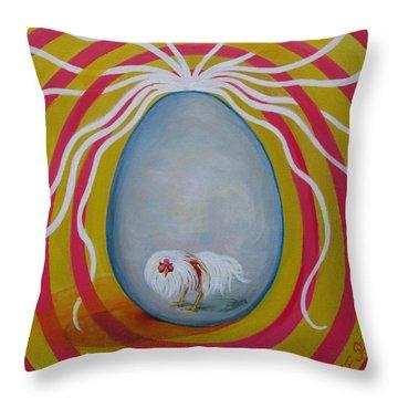 Costello's Egg Throw Pillow