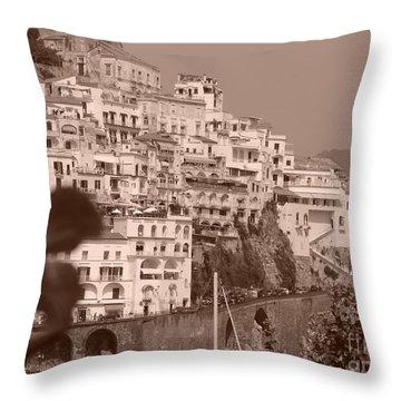 Costiera Amalfitana Throw Pillow