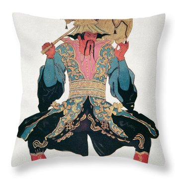 Costume Design For A Chinaman Throw Pillow