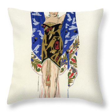 Costume Design For A Dancing Girl Throw Pillow by Leon Bakst