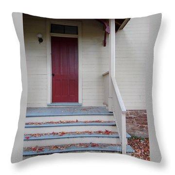 Cozy Cottage Door Throw Pillow