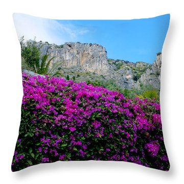 Cote D'azur Purple And Blue Throw Pillow