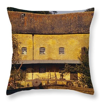 Cotswold Cottage Throw Pillow by Stuart Litoff