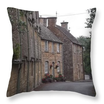 Cotswold Cottages Throw Pillow by John Williams