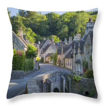 Throw Pillow featuring the photograph Cotswold Village by Brian Jannsen