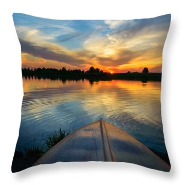 Cottage Country's Silhouette Throw Pillow