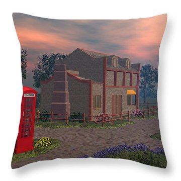 Cottage Lane Throw Pillow by John Pangia