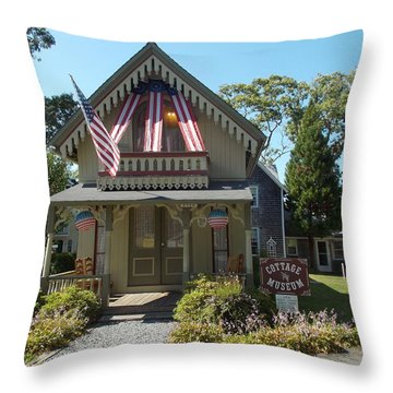 Cottage Musuem Throw Pillow