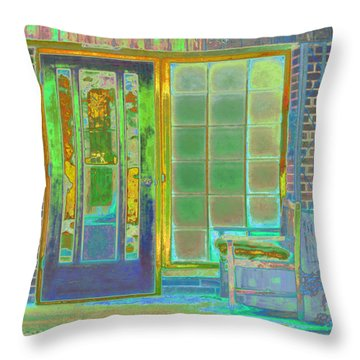 Cottage Porch Throw Pillow