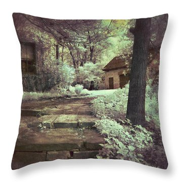 Cottages In The Woods Throw Pillow by Jill Battaglia