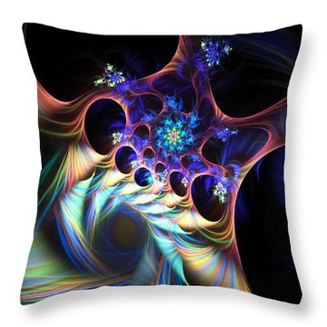 Cotton Candy 2 Throw Pillow