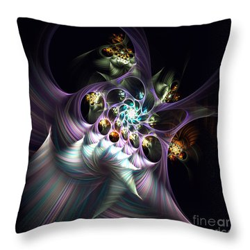 Throw Pillow featuring the digital art Cotton Candy by Arlene Sundby