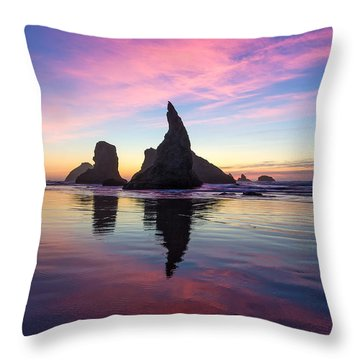 Cotton Candy At The Carnival Throw Pillow by Patricia Davidson