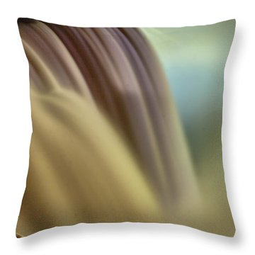 Cotton Candy Falls Throw Pillow by Darleen Stry