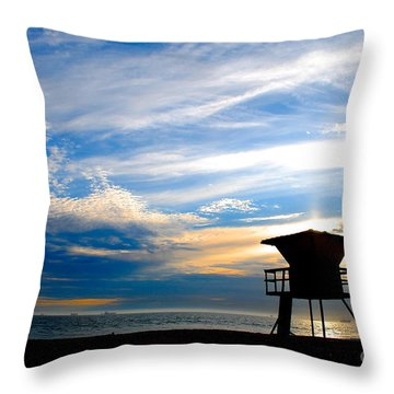 Throw Pillow featuring the photograph Cotton Candy Sky by Margie Amberge