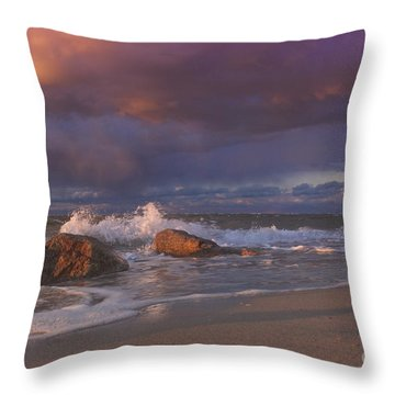 Throw Pillow featuring the photograph Cotton Candy Sunset by Amazing Jules