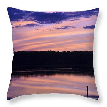 Cotton Candy Sunset Series 4 Throw Pillow
