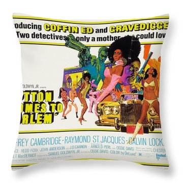 Cotton Comes To Harlem Poster Throw Pillow by Gianfranco Weiss