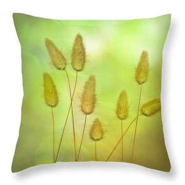Cottontails Throw Pillow by Jan Bickerton