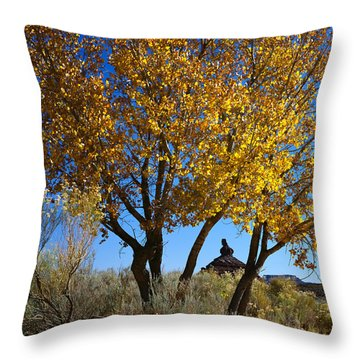 Cottonwood And Nipple Butte Throw Pillow