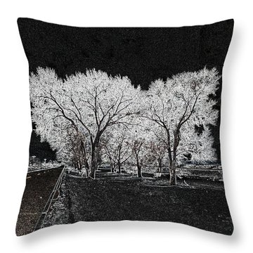 Cottonwood Frost Throw Pillow by Aliceann Carlton