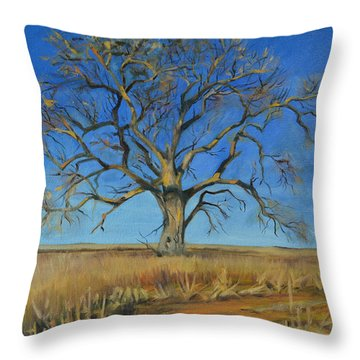 Cottonwood On The North 40 Throw Pillow