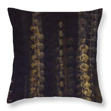 Cottonwoods In Winter Throw Pillow