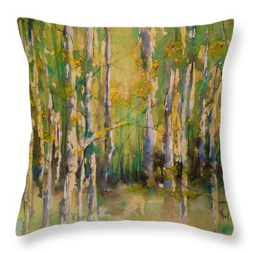 Cottonwoods Throw Pillow