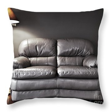 Couch And Lamp Throw Pillow by Elena Elisseeva