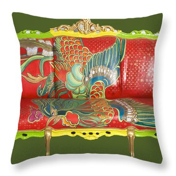 Couch Phoenix Throw Pillow
