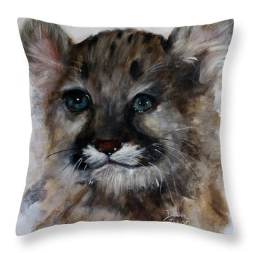 Antares - Cougar Cub Throw Pillow